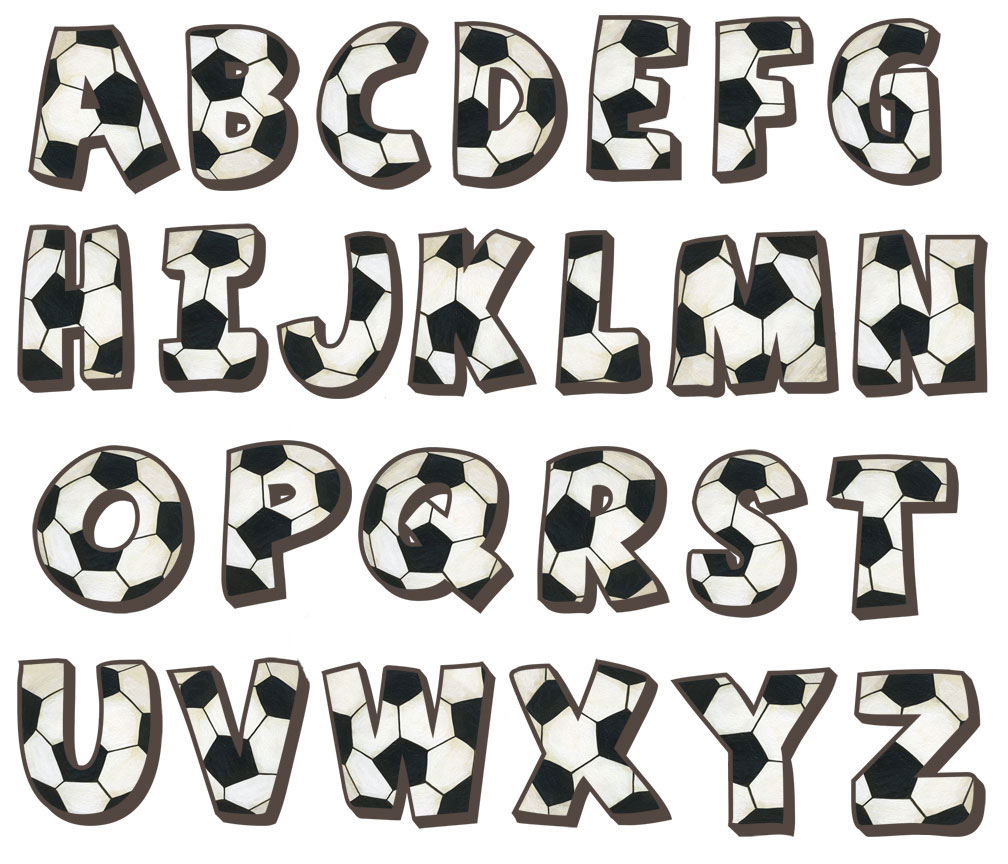 click image above to see larger alphabet small soccer alphabet