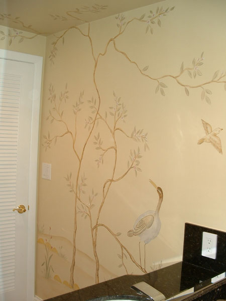 Bathroom Wall Murals By Colette Painted Bathroom Murals