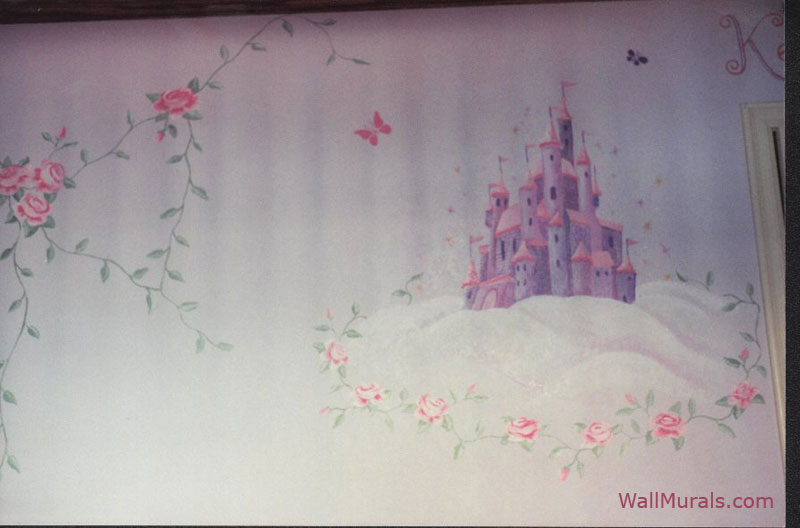 castle rose wall mural - photo #2