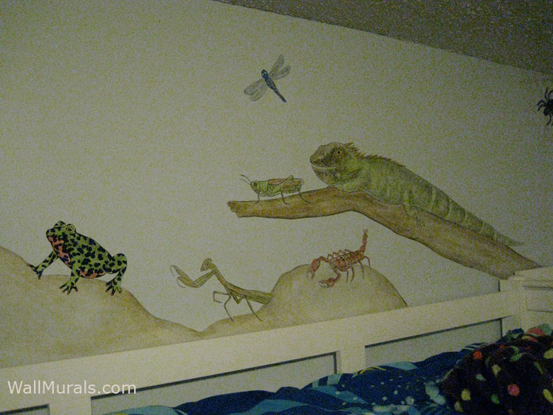 Dinosaur wall murals by colette reptile wall murals for Dinosaur wall mural
