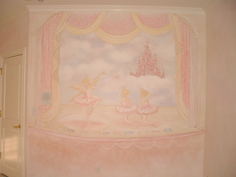 girls room wall murals girl theme wall murals by colette