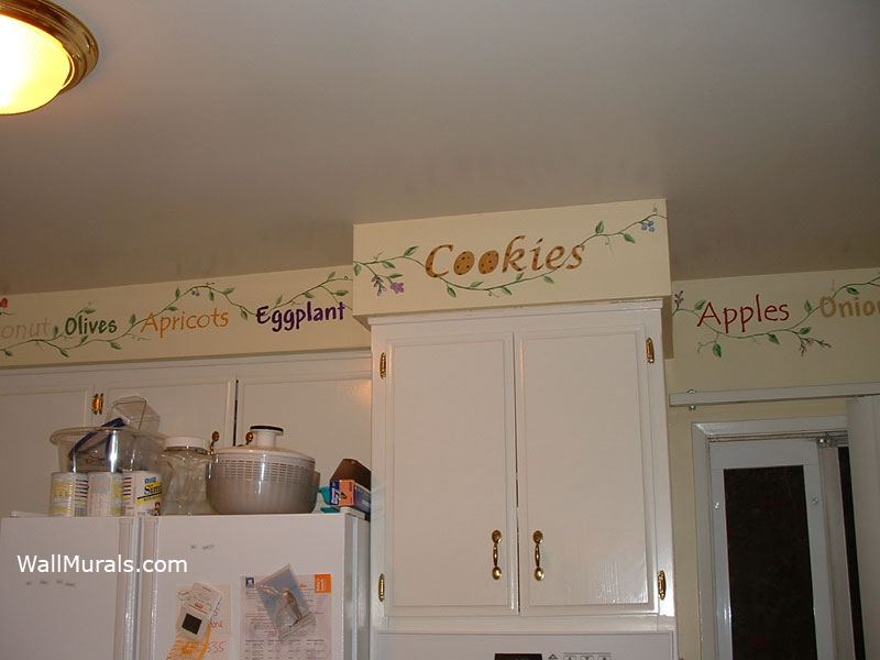 pics photos kitchen wall border on wall murals by kitchen murals hand painted kitchen wall murals borders