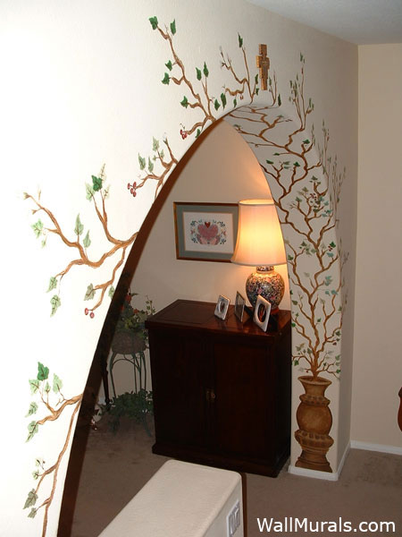 Living room wall murals by colette bar murals dining for Designs of arches in living room