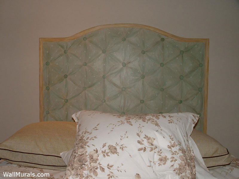 Master bedroom wall murals by colette wall murals in for Mural headboard