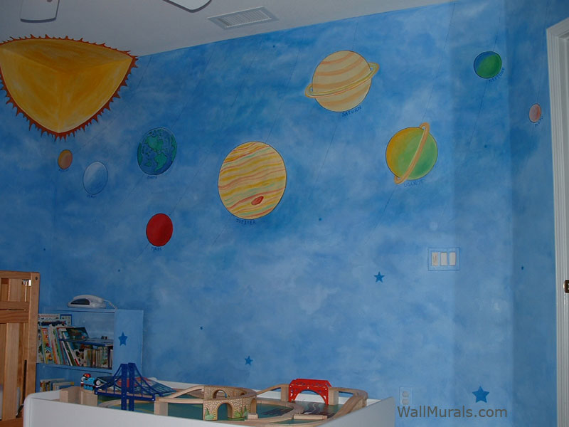 space theme wall murals by colette outer space wall murals outer space wall mural planet and outer space wall