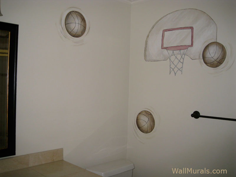 Sports Wall Murals By Colette Sports Themed Rooms