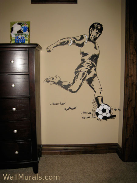 sports wall murals by colette sports themed rooms best game room ideas soccer stadium wall mural football