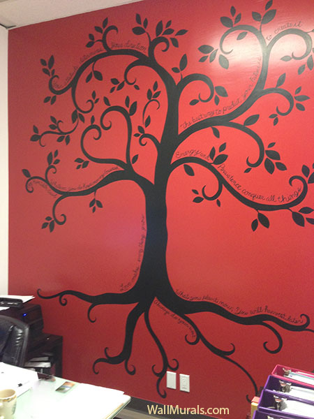 tree wall murals by colette tree paintings on walls wall murals tree of life pixersize com